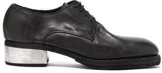 Guidi Horse Grained-leather Derby Shoes - Black