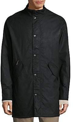 Barbour Men's High-Neck Snap Cotton Jacket