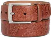 Tasso Elba Men's Paisley Leather Belt, Created for Macy's