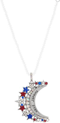 Kirks Folly Forever Free Moon Pendant and Aurora Beaded Necklace