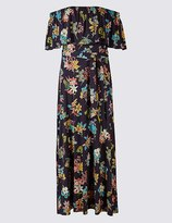Marks and Spencer Floral Print Bardot Maxi Dress