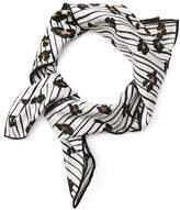 Banana Republic Linear Leopard Small Square Scarf