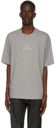 Acne Studios Grey Reflective Patch Motif T-Shirt