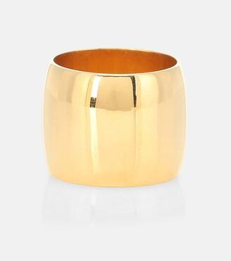 Sophie Buhai Wide Cigar 18kt gold vermeil ring