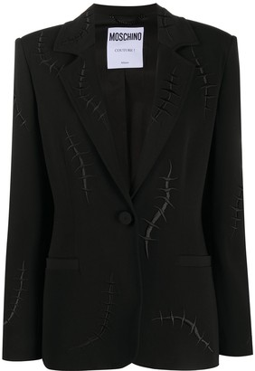 Moschino Embroidered Stitch-Motif Blazer Jacket