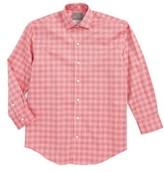 Thomas Dean Boy's Textured Check Dress Shirt