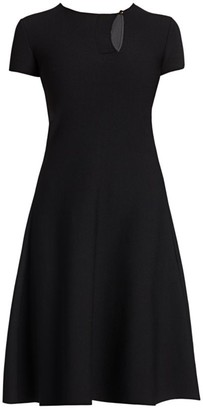 Giorgio Armani Short-Sleeve Knit Dress