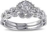 JCPenney MODERN BRIDE 1/2 CT. T.W. Diamond 10K White Gold Bridal Ring Set