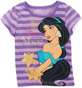 Children's Apparel Network Disney Princess Jasmine Purple Stripe Cap-Sleeve Top - Toddler