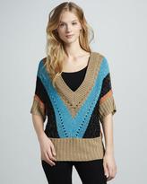 Tracy Reese Metallic Striped Sweater