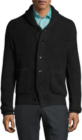 Toscano Men's Raglan Shawl Collar Sweater