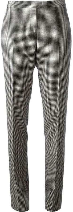 Jil Sander micro check tapered trouser