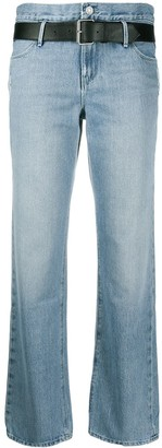RtA Distressed Straight Leg Jeans
