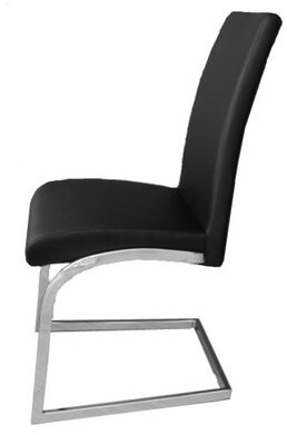 Latitude Run Kinsey Upholstered Dining Chair Upholstery Color: Black
