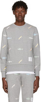 Thom Browne Grey Shark and Surfboard Pullover