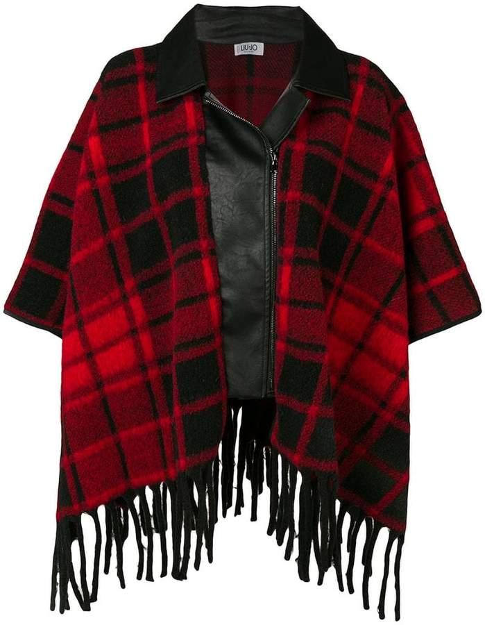 Liu Jo tartan cape coat