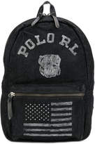 Polo Ralph Lauren distressed logo print backpack
