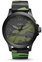Fossil Nate Three-Hand Date Camo Silicone Watch