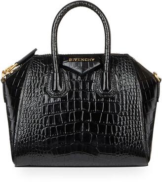 Givenchy Antigona Mini Croc-Embossed Satchel Bag