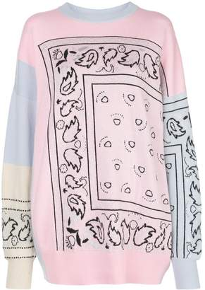 Barrie Bandana Oversized Sweater