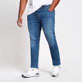 River Island Big and Tall blue Sid skinny fit jeans