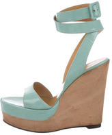 Hermes Patent Leather Platform Wedges