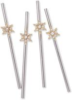 Joanna Buchanan Snowflake Metal Cocktail Straws, Set of 4