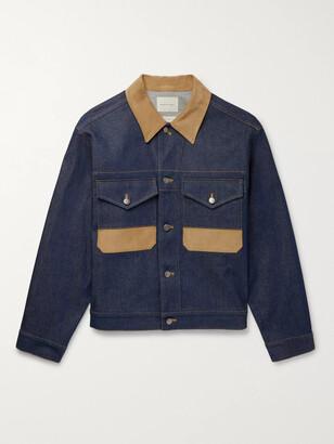 Nicholas Daley Corduroy-Trimmed Denim Jacket