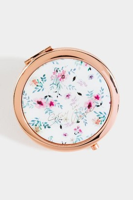 francesca's Ditsy Floral Print Compact Mirror - Multi
