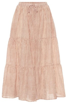 Velvet Dina high-rise midi skirt