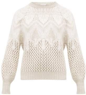 Brunello Cucinelli Opera Open-knit Cashmere & Silk Sweater - Womens - Ivory
