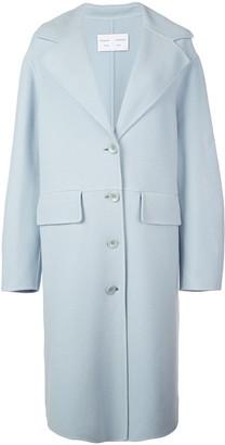 Proenza Schouler White Label Wool Cashmere Double Face Long Coat