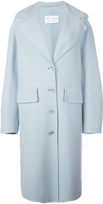 Proenza Schouler White Label Wool Cashmere Double Face Long Coat