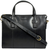 Hidesign Brunel Zip Top Handle Briefcase, Black
