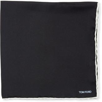 Tom Ford Men's Satin-Trim Pocket Square