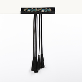 Maje Embroidered tie belt with tassels