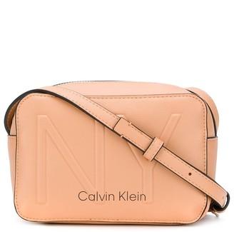 Calvin Klein Embossed NY crossbody bag