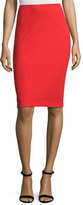 St. John Clair Knit Pencil Skirt, Red