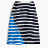 J.Crew Petite colorblock striped skirt