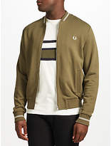 Fred Perry Bomber Neck Sweatshirt Jacket, Iris Leaf