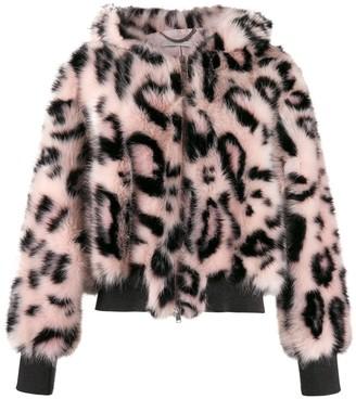 Stella McCartney Leopard Print Bomber Jacket
