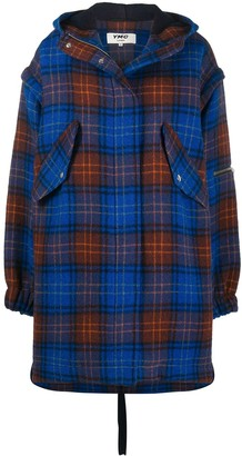 YMC Oversized Tartan Coat