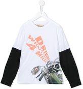 John Galliano motorbike print T-shirt