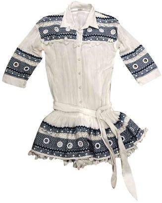 Miguelina White Cotton Swimwear for Women