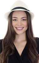 Simplicity Trilby Summer Beach Sun Straw Fedora Hat w/ Band L/XL