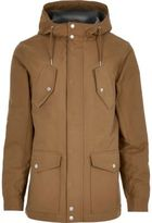 River Island Mens Brown hooded casual jacket
