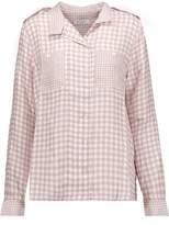 Equipment Alma Gingham Washed-Silk Shirt