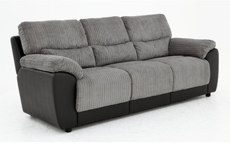 Sienna Fabric/Faux Leather Static 3 SeaterSofa