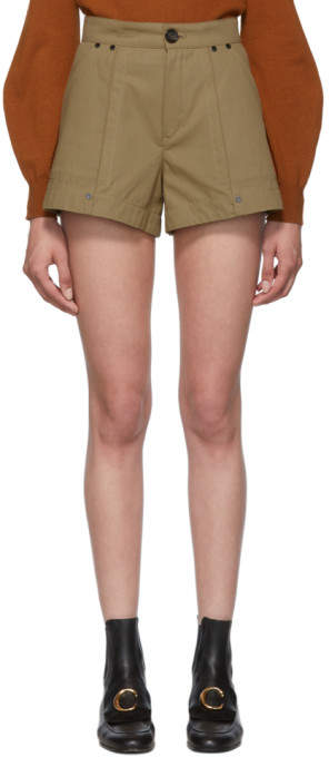 Chloé Tan A-Line Shorts