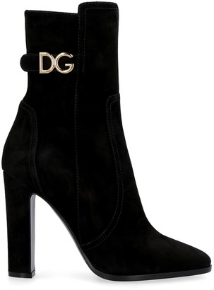 Dolce & Gabbana Caroline Suede Ankle Boots